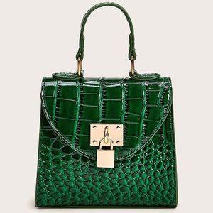 Mini Croc Embossed Chain Satchel bag